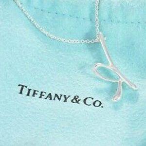 "Tiffany & Co. Jewelry - TIFFANY & CO Elsa Peretti Letter ""K"" necklace"